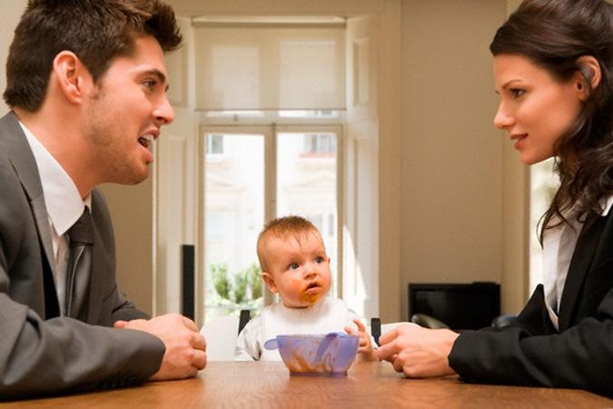 никогда Права жены и ребенка после развода двинулся места